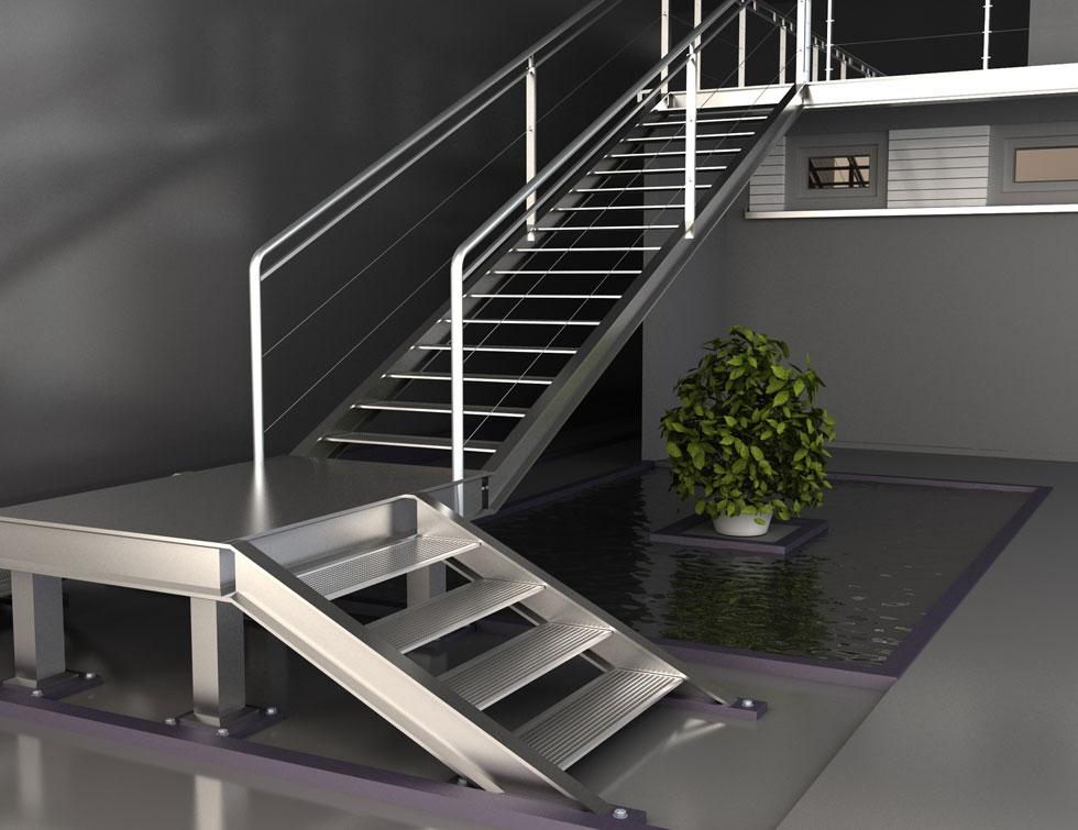 Metallverarbeitung Treppenkonstruktion